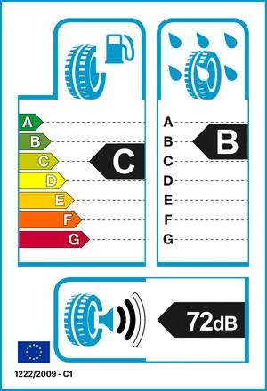 Reifenlabel 72-2-C-B-C1