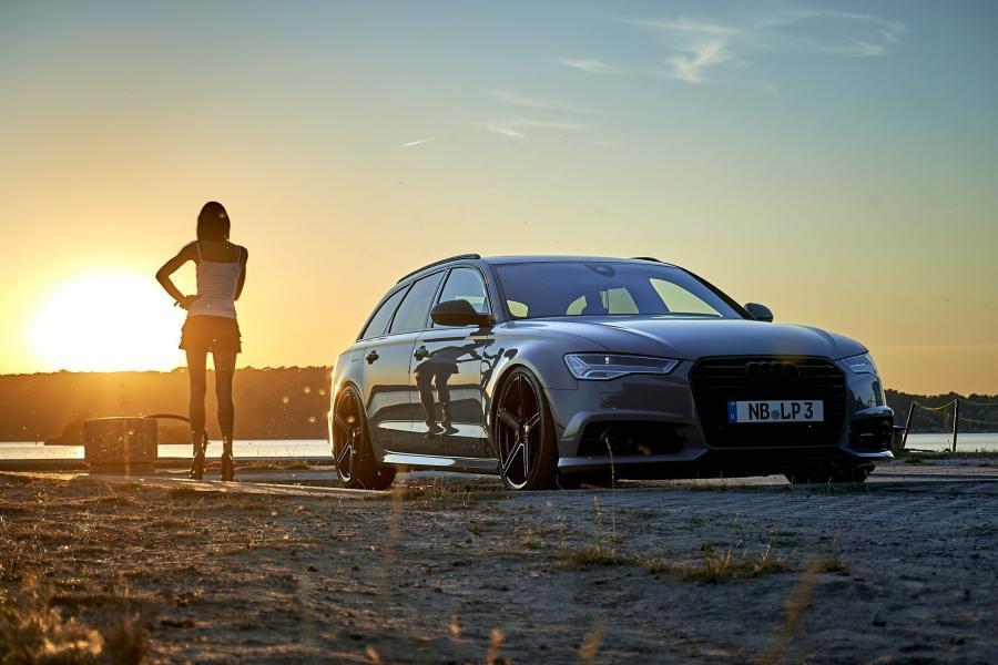 Audi A6 - KV1 S Schwarz glänzend