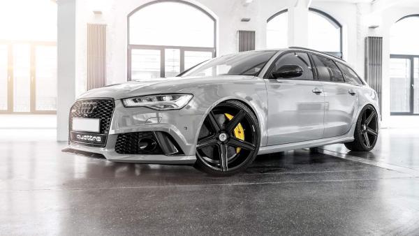 """Audi RS6 4G Sommerräder KV1 22"""" Schwarz glanz - Michelin"""