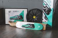 mbDECK - Skateboard 8.13er Ahorn Golf GTI Mintgrün