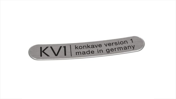 Klebeschild KV1 Universal - Silber