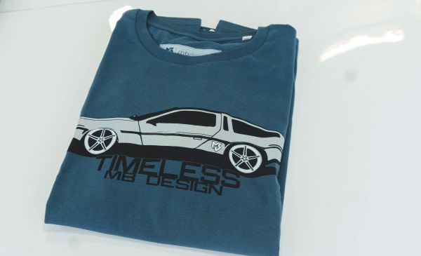 mbDESIGN T-Shirt Petrol - Timeless Delorean