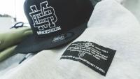 mbDESIGN Snapback Cap BLACK MONOGRAMM