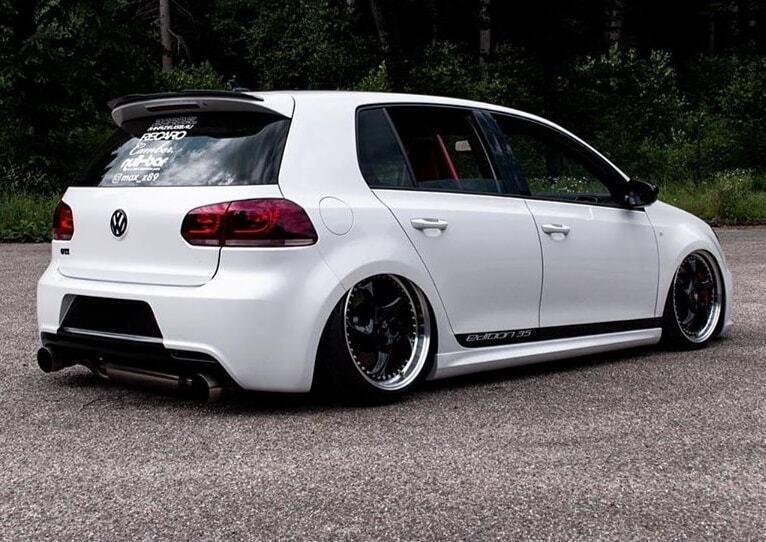VW Golf VI R - Turbo S 1-tlg. Schwarz glänzend poliert