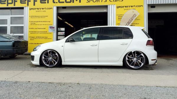 "VW Golf VI R Winterräder 19"" mb1 Mattgrau pol. ABE"