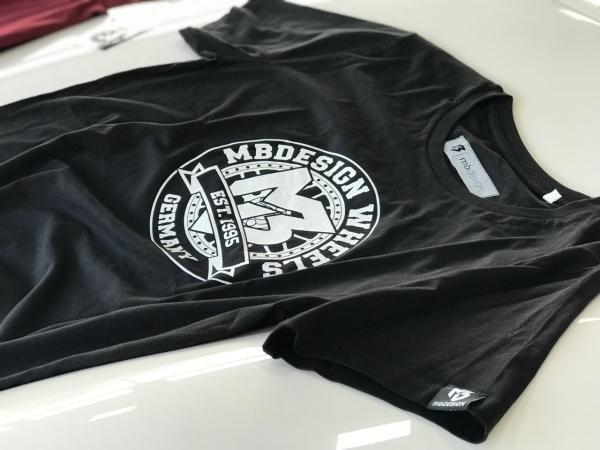 mbDESIGN T-Shirt Schwarz-Weiss