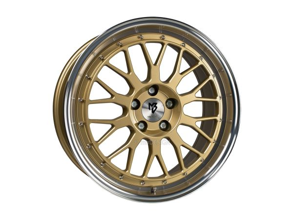 "VW Up LV1 17"" Gold poliert Kpl.Satz mit Hankook"
