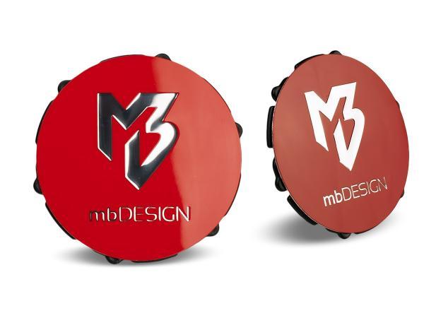 mbDESIGN Nabendeckel 69,00mm - rot glanz Logo poliert