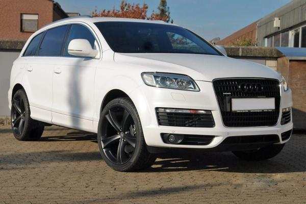 "Audi Q7 Winterräder 20"" TETTSUT Mattschwarz - PIRELLI Scorpion Ice & Snow"