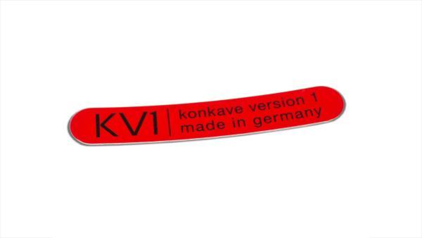 Klebeschild KV1 Universal - Rot